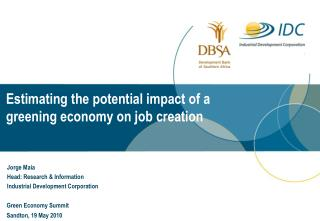 Estimating the potential impact of a  greening economy on job creation