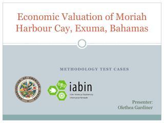 Economic Valuation of  Moriah Harbour  Cay,  Exuma , Bahamas