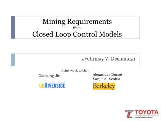 Mining Requirements from Closed Loop Control Models