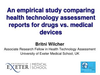 An empirical study comparing health technology assessment reports for drugs vs. medical devices