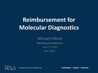 Reimbursement for Molecular Diagnostics