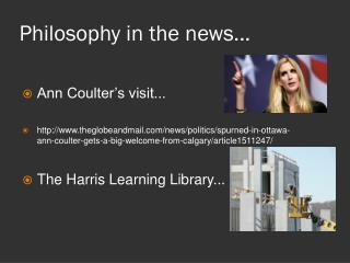 Philosophy in the news...
