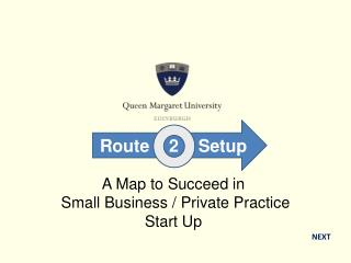 A Map to Succeed in  Small Business / Private Practice  Start Up
