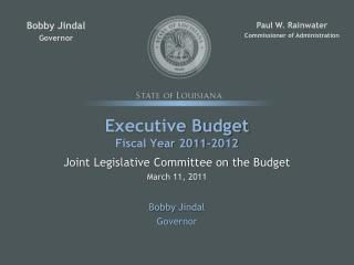 Executive Budget Fiscal Year 2011-2012
