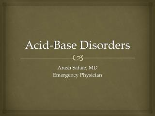 Acid-Base Disorders