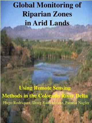 Global Monitoring of Riparian Zones in Arid Lands