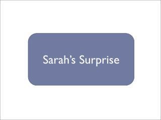 Sarah�s Surprise