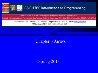 Chapter 6 Arrays