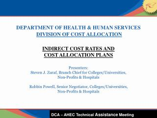 DEPARTMENT OF HEALTH & HUMAN SERVICES DIVISION OF COST ALLOCATION