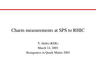 Charm measurements at SPS to RHIC