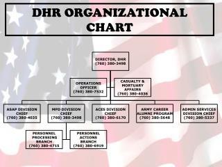 DHR ORGANIZATIONAL CHART