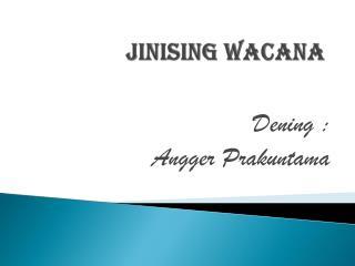 Jinising Wacana