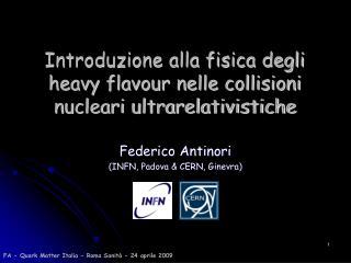 Introduzione alla fisica degli heavy flavour nelle collisioni nucleari ultrarelativistiche