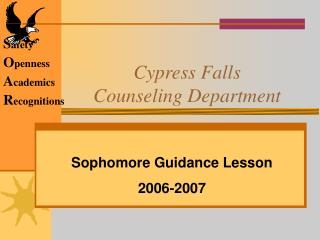 Cypress Falls Counseling Department