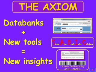 D atabanks      + New  tools      = New insights