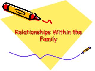 Relationships Within the Family