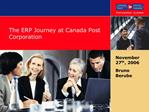 The ERP Journey at Canada Post Corporation