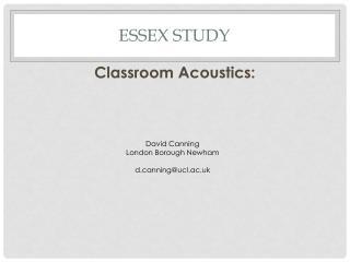 Essex Study