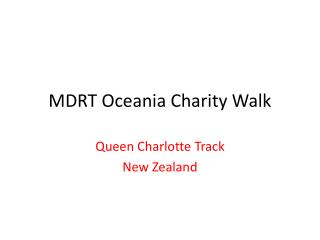MDRT Oceania Charity Walk