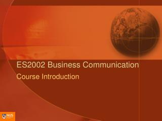 ES2002 Business Communication