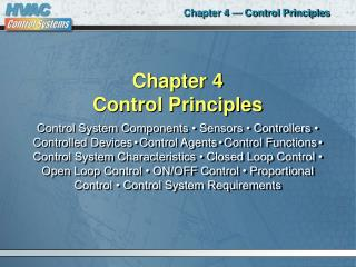 Chapter 4 Control Principles