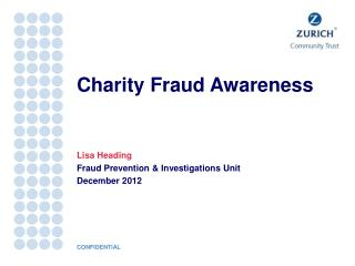 Charity Fraud Awareness