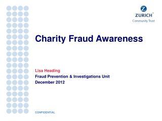 Charity Fraud Awareness