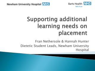 Supporting additional learning needs on placement