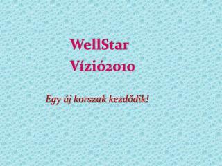 WellStar Vízió 2010