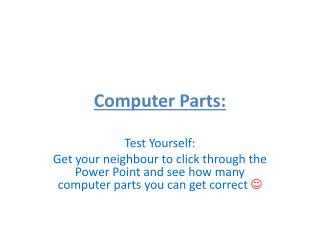 Computer Parts:
