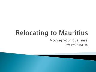 Relocating to Mauritius