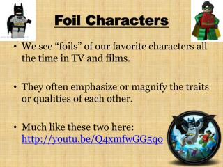 Foil Characters