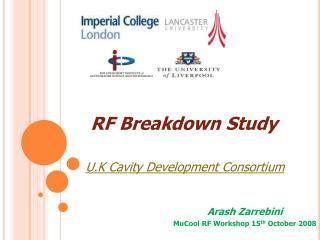 RF Breakdown Study