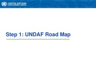 Step 1: UNDAF Road Map