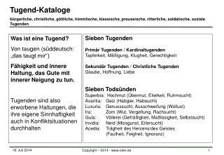 Tugend-Kataloge