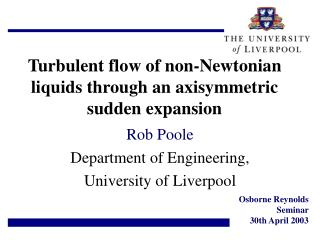 Turbulent flow of non-Newtonian liquids through an axisymmetric sudden expansion