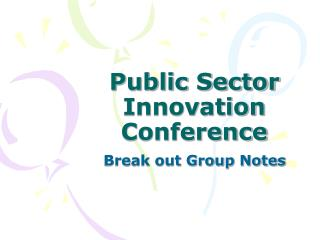 Public Sector Innovation Conference