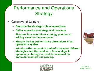 Performance and Operations Strategy