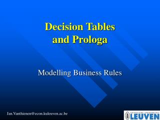 Modelling Business Rules