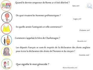 Comment s'appelait le fr�re de Charlemagne ? Alexandre, cm1
