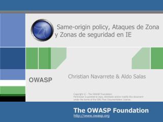 Same-origin policy, Ataques de Zona y Zonas de seguridad en IE