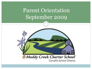Parent Orientation September 2009