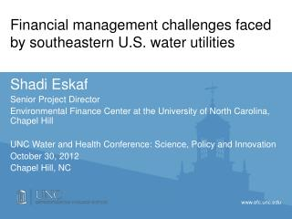 Financial management challenges faced by southeastern  U.S. water  utilities