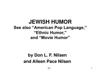 PP 7A: Jewish Humor