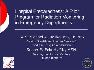 Hospital Preparedness: A Pilot Program for Radiation Monitoring in Emergency Departments