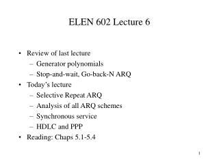 ELEN 602 Lecture 6