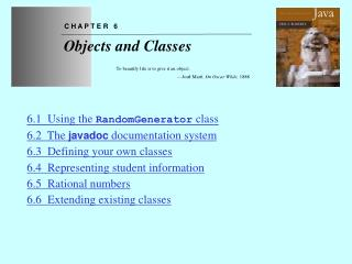 Chapter 6 Objects and Classes
