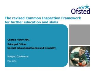 The revised Common Inspection Framework for further education and skills