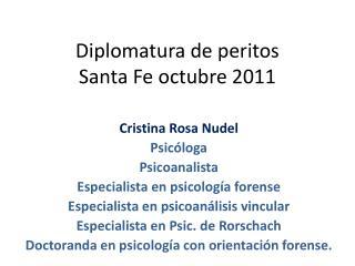 Diplomatura de peritos  Santa Fe octubre 2011