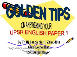 Tips for Paper 1